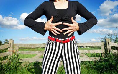 Stribet bukser